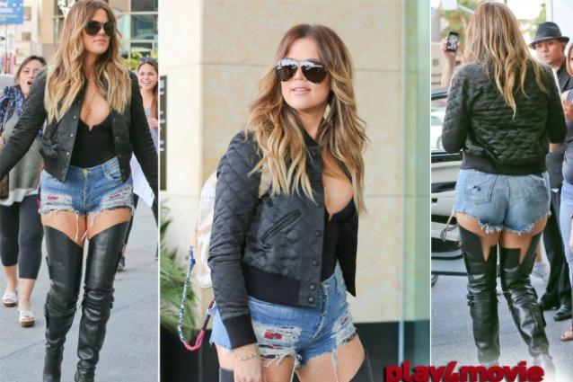 Khloe Kardashian al limite del trash, Lato B in vista e cosce strizzate negli stivali