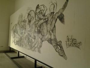 Il capolavoro di Andrea Pazienza alla Mostra d'Oltremare (foto di Antonio Fico)