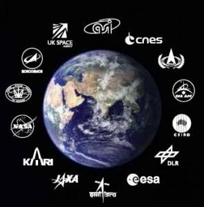 Le 12 agenzie spaziali dell'ISECG, tra cui quella italiana.