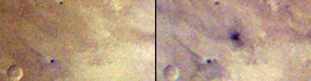A sinistra il 27 marzo del 2012, a destra il giorno successivo (Image Credit: NASA/JPL–Caltech/MSSS)