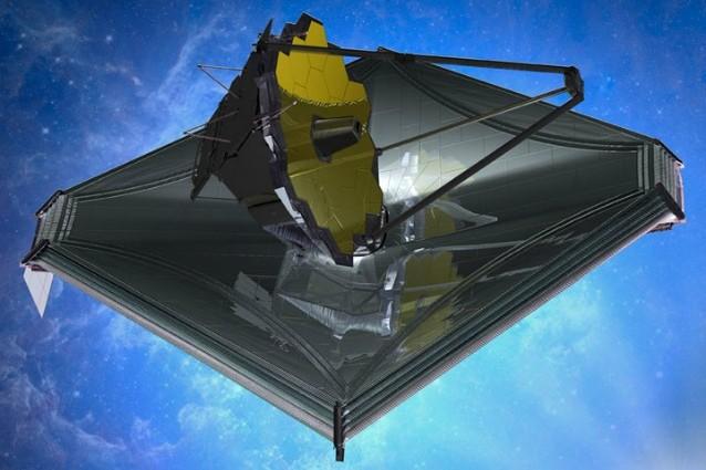Rappresentazione artistica del James Webb Telescope (Immagine NASA, Credit: Northrop Grumman)