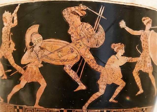 Amazzonomachia su un vaso conservato presso il Metropolitan Museum of Art (via Wikipedia)