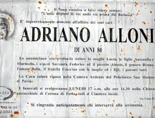 spesso Necrologio a Pavia l'unico dispiacere è andarmene prima di Berlusconi QQ57