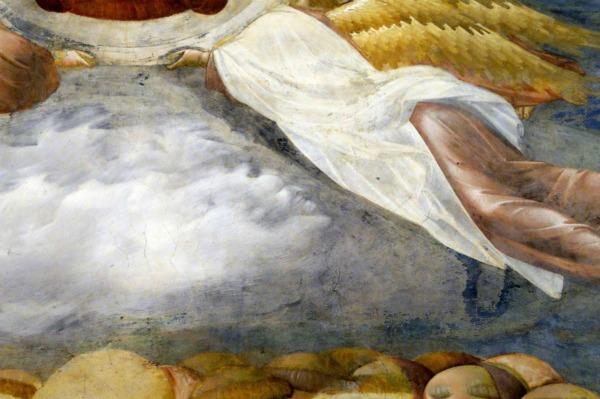 Nascosto per otto secoli ed individuato dalla medievista Chiara Frugoni, è un diavolo che emerge dalle nuvole in un affresco di Giotto nella basilica superiore di San Francesco ad Assisi.