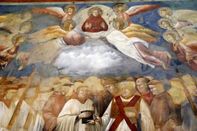 Nascosto agli occhi di tutti per otto secoli ed individuato dalla medievista Chiara Frugoni, è un diavolo che emerge dalle nuvole in un affresco di Giotto nella basilica superiore di San Francesco ad Assisi.