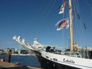 La Estelle attracca a Napoli. Ultima tappa sulla rotta di Gaza