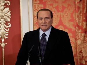 Conferenza stampa di Silvio Berlusconi a Villa Gernetto