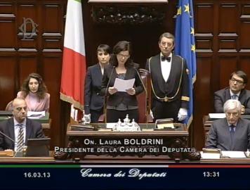 Laura boldrini nuovo presidente della camera al senato ha for Presidente della camera attuale