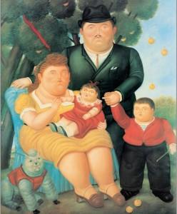 """Ferdinando Botero, """"La famiglia"""""""