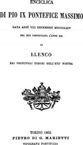 """Frontespizio de """"Il Sillabo"""", 1864"""