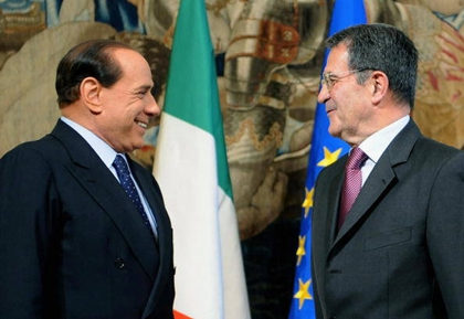 Silvio Berlusconi e Romano Prodi