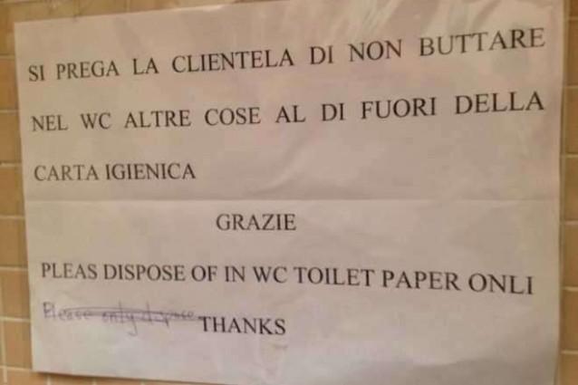 Napoli la traduzione in inglese di un bar fa sorridere il - Fare il bagno in inglese ...