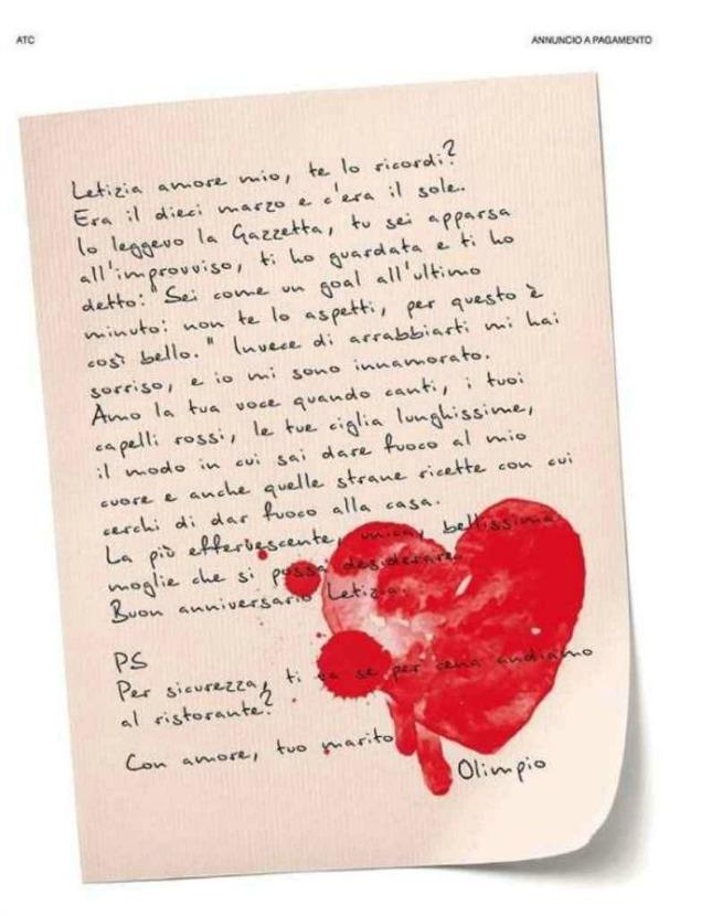 Auguri Anniversario Matrimonio Al Marito : Compra una pagina del corriere e scrive alla moglie ti