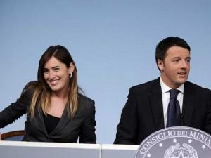Maria Elena Boschi e Matteo Renzi non saranno nel governo PD