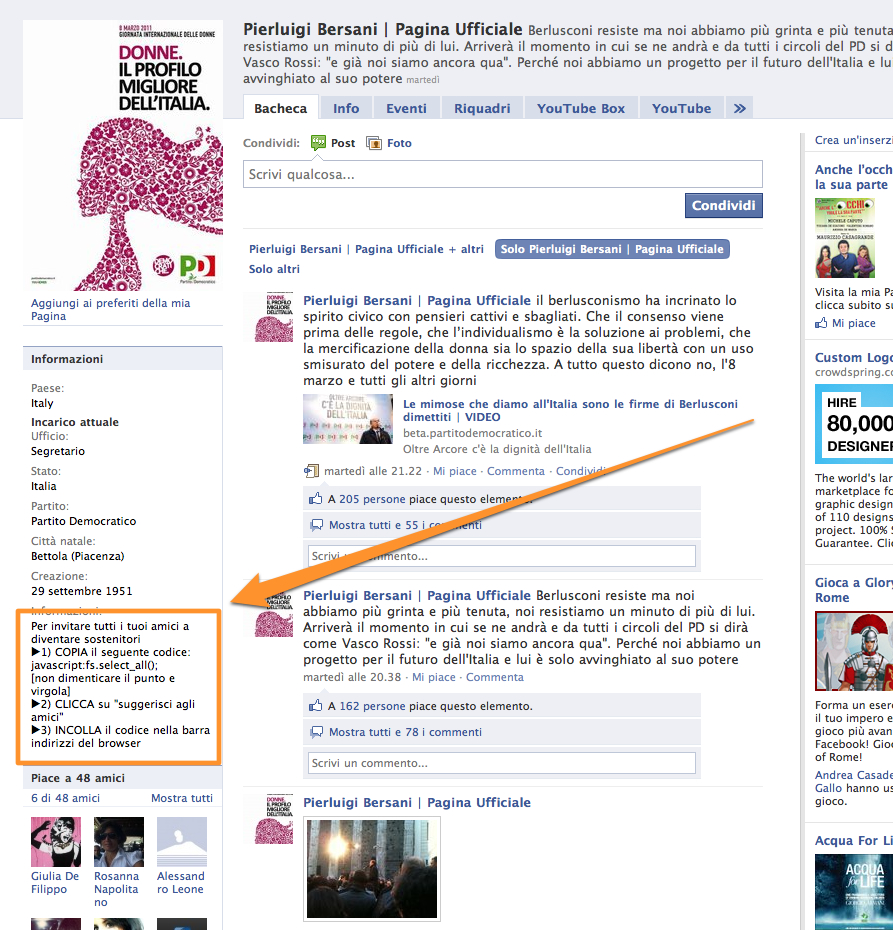 profilo facebook pierluigi bersani