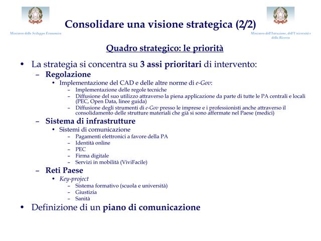 Agenda digitale italiana ecco i piani ufficiali della for Piani di cabina 32x32