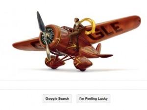 Google ritrova Amelia Earhart... nel suo doodle.