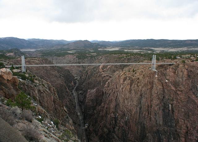 ponti royal gorge bridge panoramica