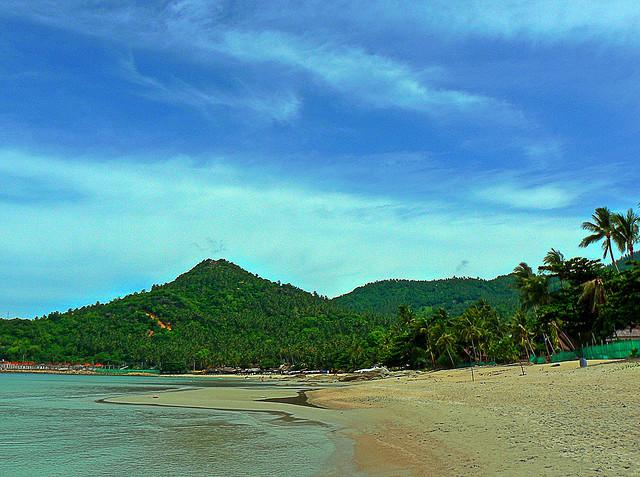 La spiaggia di chaweng a Ko Samui
