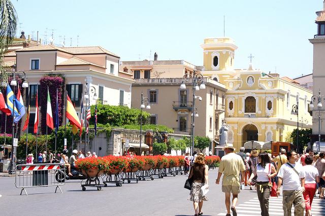 Piazza Tasso a Sorrento