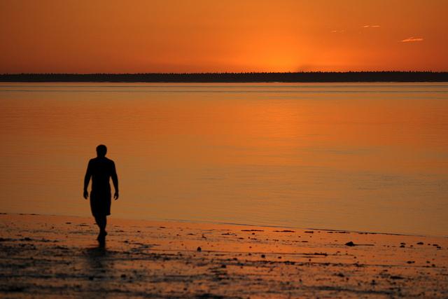 Perdersi nella bellezza del tramonto
