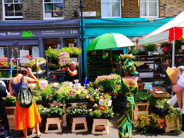 Columbia Road Flower Market. Foto di Joel Suss
