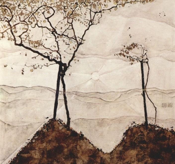 Foliage Egon_schiele_009_autunno_domenica_alberi_1912