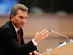 il Commissario europeo Gunther Oettinger