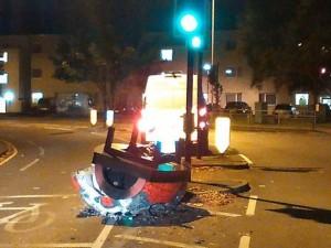 """La polizia: """"UFO in fiamme a Londra"""". Ma era un forno"""