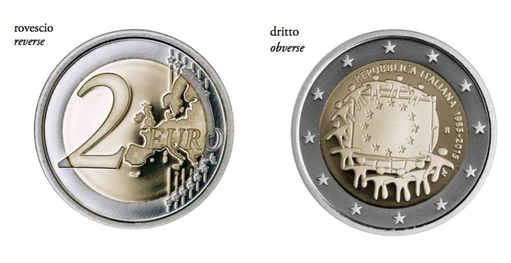 moneta 2 euro commemorativa fior di conio. Black Bedroom Furniture Sets. Home Design Ideas