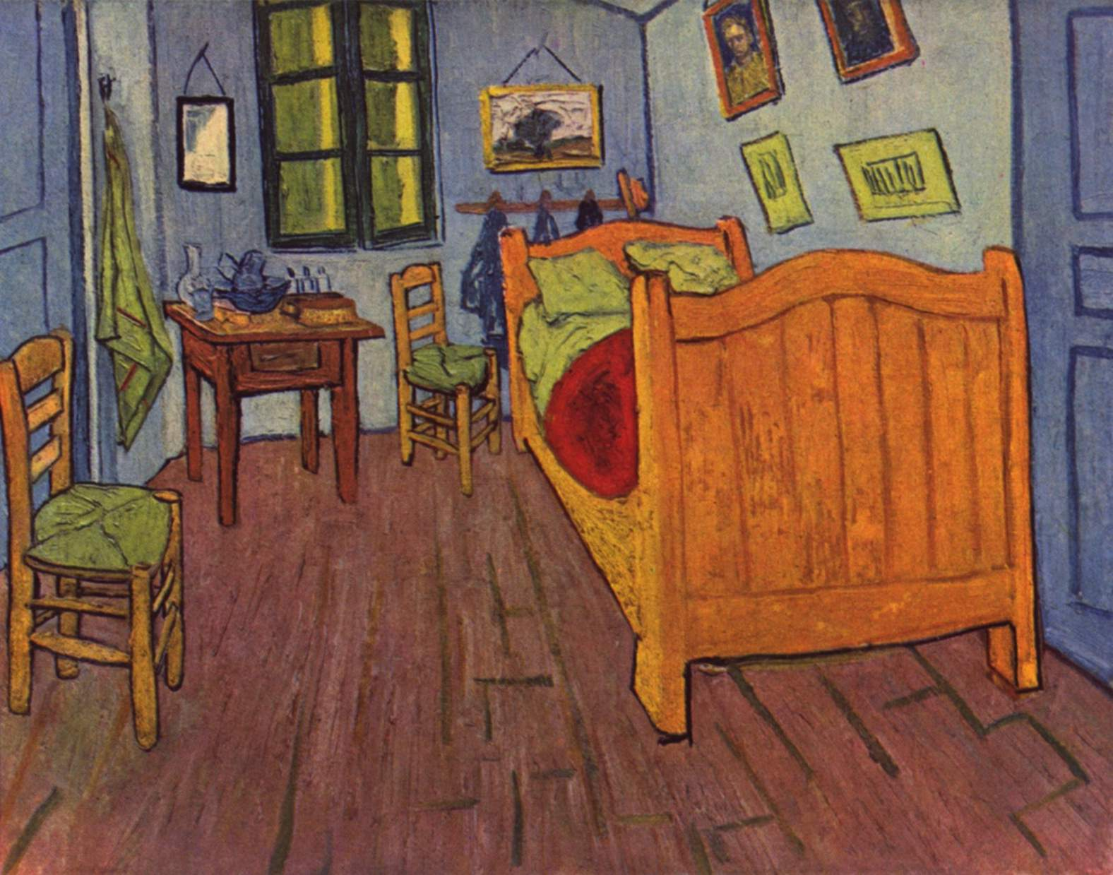 La camera da letto di van gogh ad arles i colori non sono quelli originali - Camera da letto van gogh ...