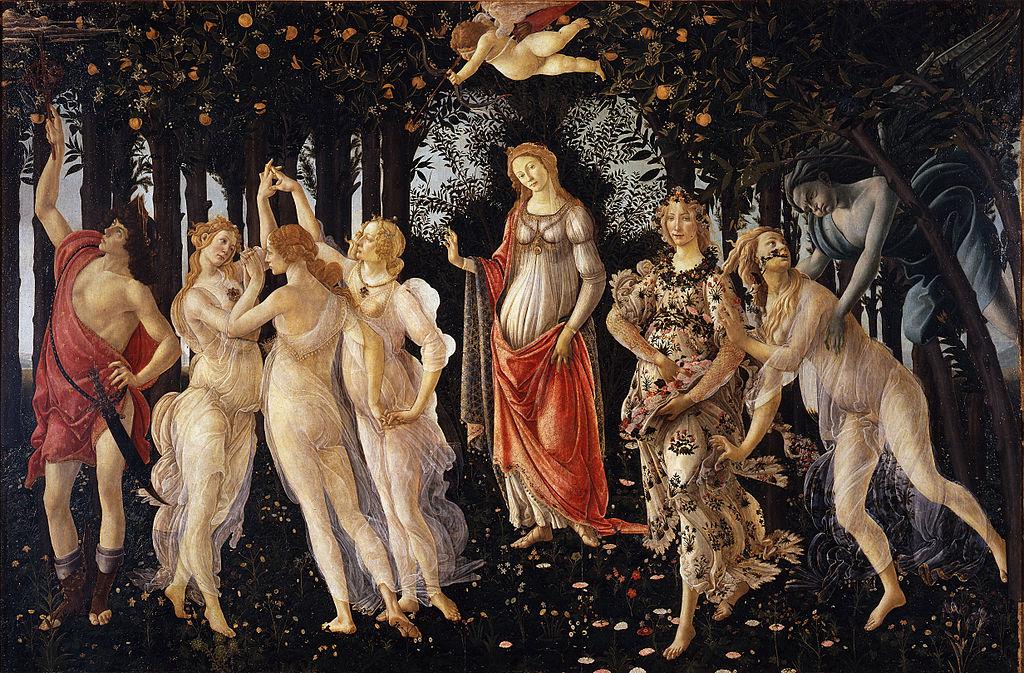 """La celebre """"Primavera"""" di Botticelli"""