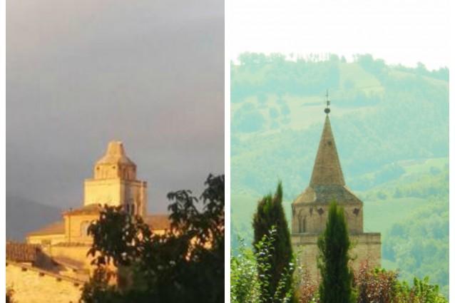 """Terremoto """"taglia"""" la punta del campanile di Amandola"""