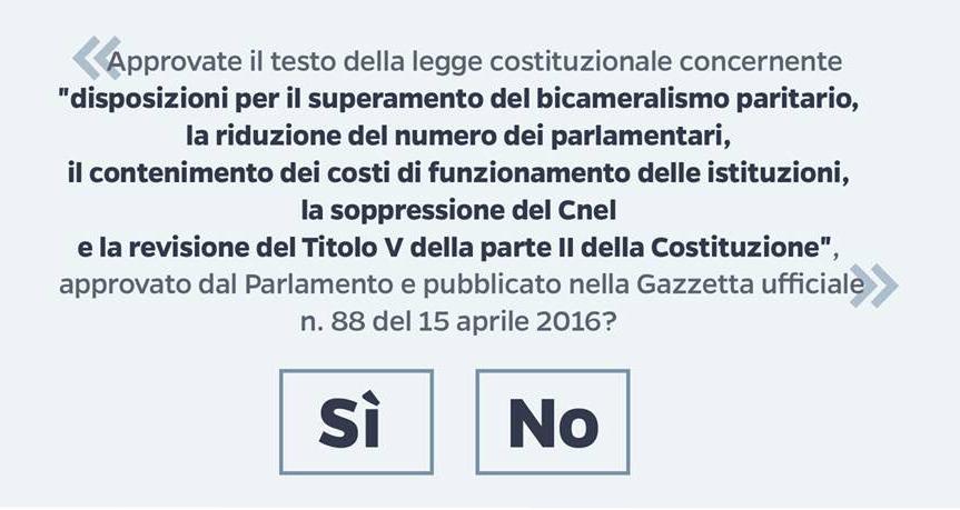 Referendum polemiche sul testo del quesito un invito a for Numero parlamentari italiani