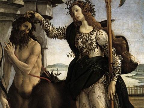 Pallade e il Centauro, Sandro Botticelli (1482-1483 circa)
