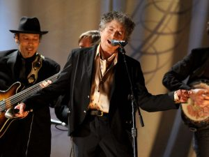 Bob Dylan durante i Grammy Awards 2011 (Getty Images)