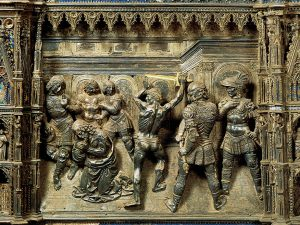 La Decollazione del Battista di Verrocchio prima dei restauri