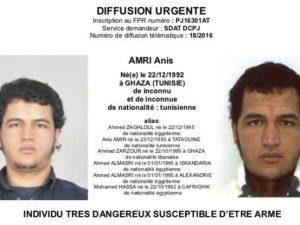 Il ricercato è il 24enne tunisino Anis Amri, mandato di cattura internazionale