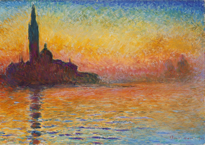 """""""San Giorgio Maggiore al crepuscolo"""", Claude Monet"""