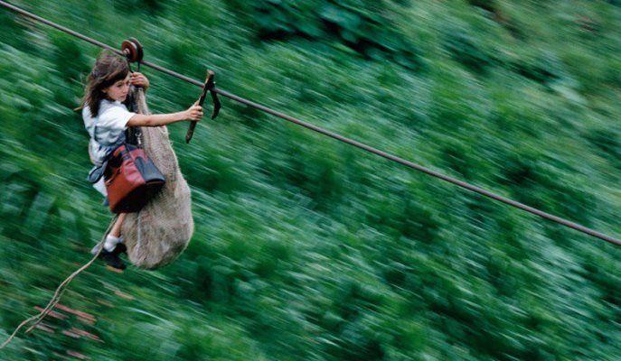 In Colombia sospesi a 400 metri d'altezza. Foto: Christoph Otto