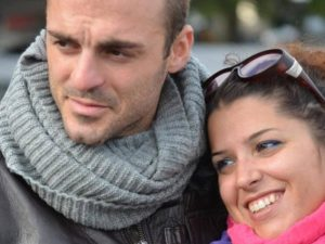 Fabio Di Lello con la moglie.