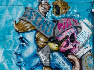La street art nella città di Christchurch, Nuova Zelanda
