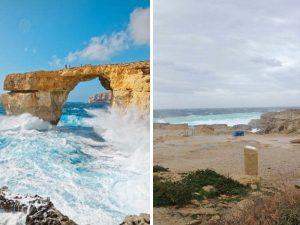 """Addio alla """"Finestra azzurra"""" di Malta: maltempo distrugge un tesoro naturale"""