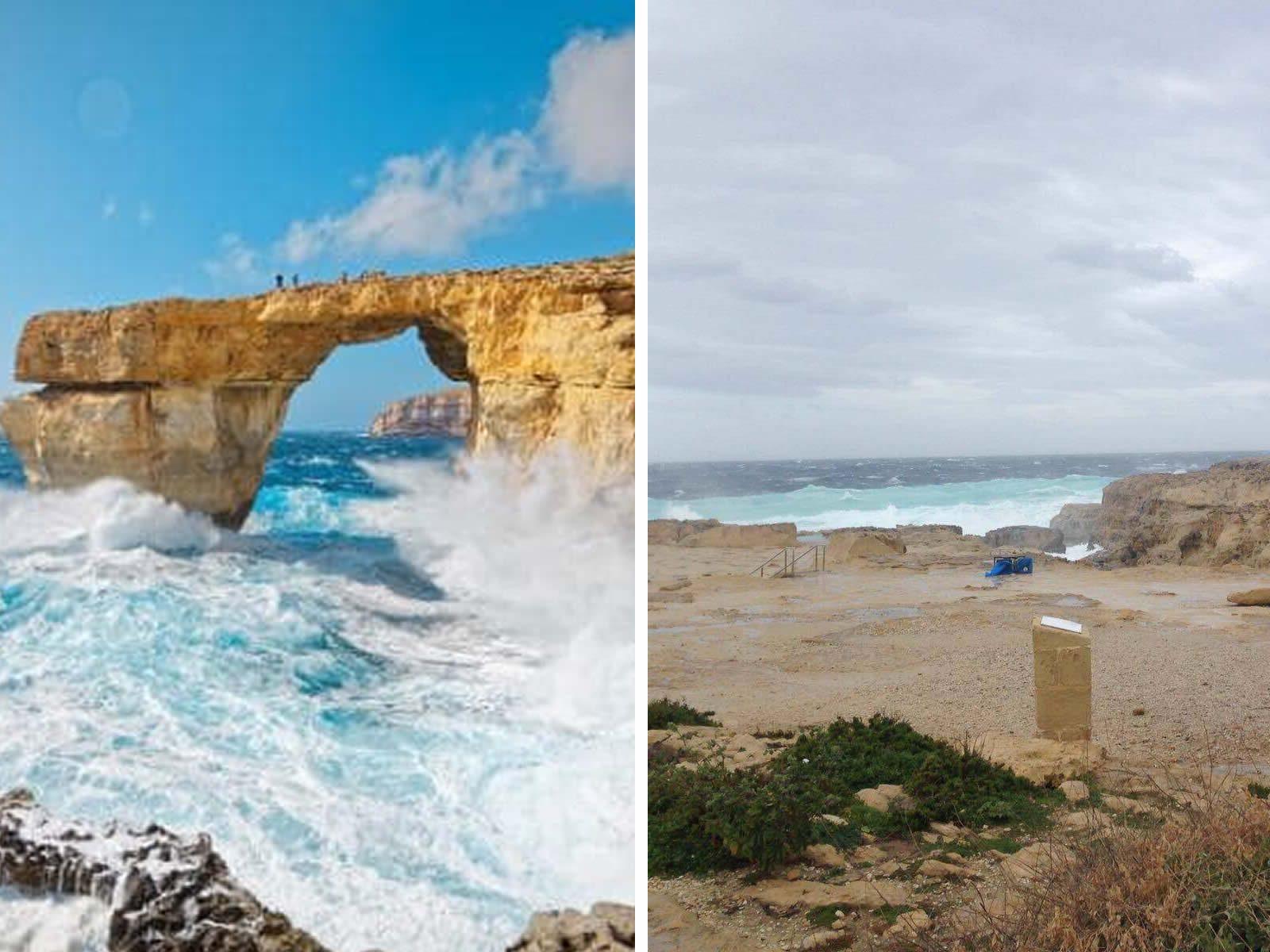 Addio alla finestra azzurra di malta maltempo distrugge - Finestra sul mare malta ...