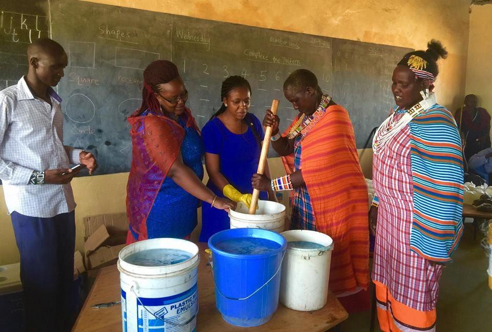 Kenya sapone con acque residue