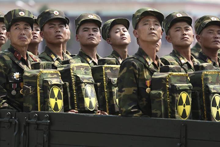 L'esercito nordcoreano preparato alla guerra chimica