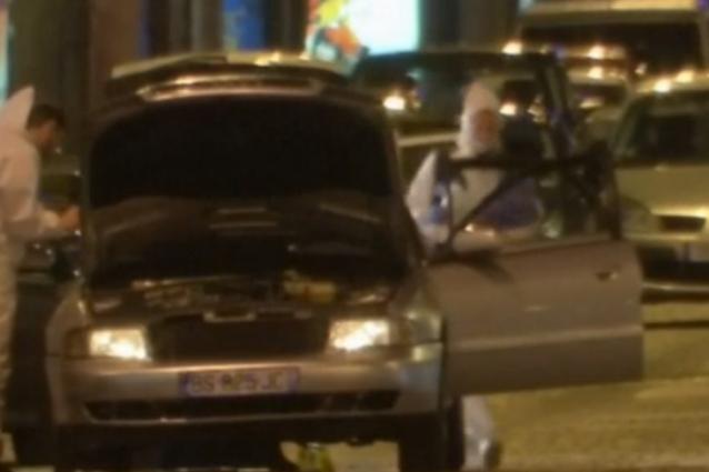 L'auto utilizzata dai terroristi