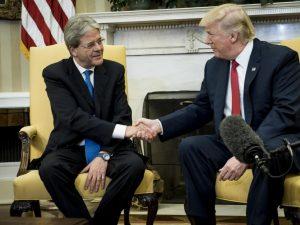 """USA, Gentiloni va alla Casa Bianca. Trump: """"Italia è un alleato chiave per noi"""""""