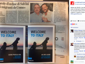 """Como, Feltrinelli contro Salvini: espone libro """"Welcome to Italy"""" in vetrina dopo comizio"""