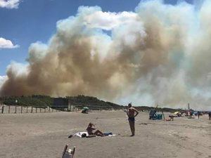 Incendio a Capalbio (Twitter).